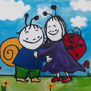 Bogyó és Babóca festmény, Gyerek & játék, Baba-mama kellék, Gyerekszoba, Baba falikép, Otthon & lakás, Képzőművészet, Festmény, Akril, Festett tárgyak, Gyermekek kedvence Bogyó és Babóca immár kis festményen\nMérete 20 cm x 30 cm\n\nAkrilfestékkel készült..., Meska