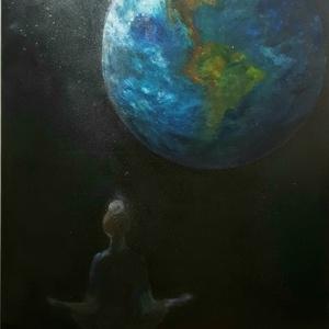 Lelki egyensúly olajfestmény, Otthon & lakás, Dekoráció, Kép, Képzőművészet, Festmény, Olajfestmény, Festészet, Festett tárgyak, Olajfestményem ihlet, elképzelés alapján született\n\nMérete : 115 cm x 85 cm\n\nFeszített vászonra kész..., Meska