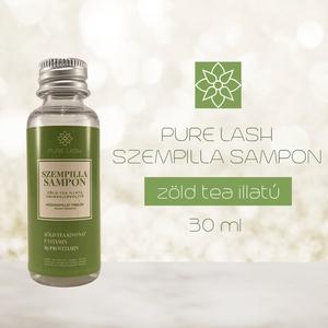 Zöld tea illatú szempillasampon-sminkeltávolító, Szépségápolás, Testápolás, Speciális bőrápolás, Kozmetikum készítés, A PURE LASH egy 2019-ben alapított szempillaápolásra specializálódott magyar márka.\n\nJelenlegi termé..., Meska
