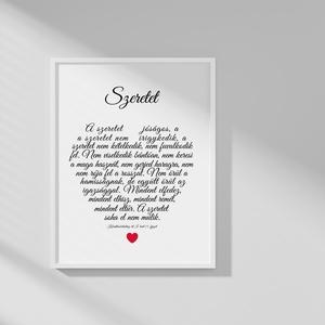Szeretet print, Otthon & Lakás, Dekoráció, Kép & Falikép, Mindenmás, Fotó, grafika, rajz, illusztráció, Meska