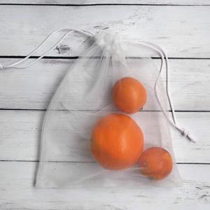 Tüllből készült zsák -vásárolj hulladékmentesen! - 6 db-os szett, Zöldség/Gyümölcs zsák, Bevásárlás & Shopper táska, Táska & Tok, Varrás, Könnyű, átlátszó zsák, ami tökéletesen kiváltja a műanyag zacskó használatát az olyan termékeknél, a..., Meska
