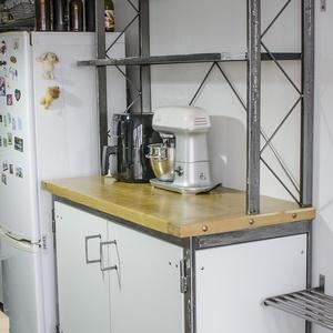 industrial polc és szekrény, Otthon & Lakás, Bútor, Szekrény, Fémmegmunkálás, Famegmunkálás, Polc és/vagy szekrény konyhába, szobába, vagy bármilyen helységbe. A méretek és az elrendezés teljes..., Meska