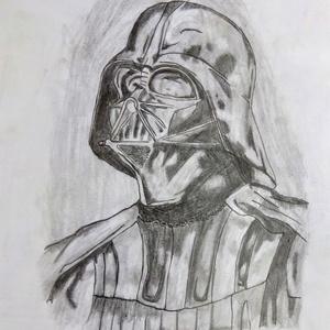 Darth Vader-es kép, Kép & Falikép, Dekoráció, Otthon & Lakás, Fotó, grafika, rajz, illusztráció, Darth Vader-es kép egy fekete-fehér kompozíció igazi csemege a rajongóknak. Aquarell rajzlapra A4-es..., Meska