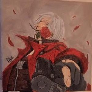 DMC Dante karakter festménye, Férfiaknak, Legénylakás, Otthon & lakás, Képzőművészet, Festmény, Dekoráció, Kép, Akril, Festészet,   DMC Dante karakter festménye egy egyedi festmény.Korábbi munkám egy kedves ismerősnek készült, de ..., Meska