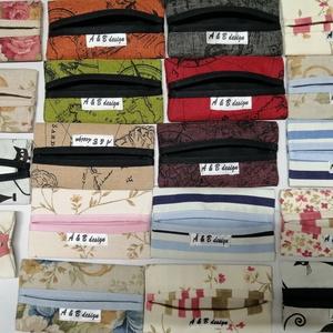 Papírzsebkendő tartó, Táska & Tok, Pénztárca & Más tok, Zsebkendőtartó, Varrás, Papír zsebkendő tartó. Kicsi, aranyos, kis táskában is kényelmesen elfér. \nMosható., Meska