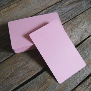Pink színű névjegykártya papír biléta cédula alap- 1cs, Papír, Egyéb papír, Névjegykártya papír  Méret: 9x5,4cm   50db/csomag   Lekerekített sarokkal  250g/m2-es minőségű   Ajá..., Meska