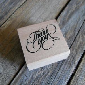 THANK YOU fa nyomda, Papír, Scrapbook, Thank you nyomda  Gyönyörű cirádás betűkkel  Nyomda mérete: 4 x 4cm  Kapható boltomban hozzá tintapá..., Meska
