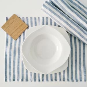 Tiszta lenvászon kék fehér csíkos tányéralatét vagy szalvéta (LPM001), Otthon & Lakás, Lakástextil, Varrás, Csíkos lenvászon tányéralátét\n\nFriss hangulatot araszto textil minden etkezeshez\nMeret: kb 40x33cm\n\n..., Meska