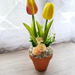 Tulipános dísz, Otthon & Lakás, Dekoráció, Asztaldísz, Mindenmás, Meska