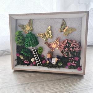 Minikert kép, Otthon & Lakás, Dekoráció, Falra akasztható dekor, Mindenmás, Meska