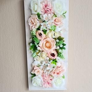 Fali virágdísz, Otthon & Lakás, Dekoráció, Falra akasztható dekor, Mindenmás, Meska