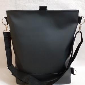 3:1 táska fekete-ezüst textilbőrből - táska & tok - variálható táska - Meska.hu