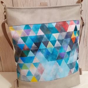 Színes háromszögek- 3:1 táska, Táska & Tok, Variálható táska, Varrás, Meska