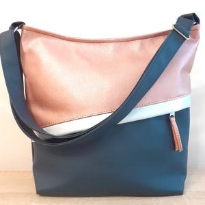 Kék-púderrózsaszín táska, Táska & Tok, Variálható táska, Varrás, Meska