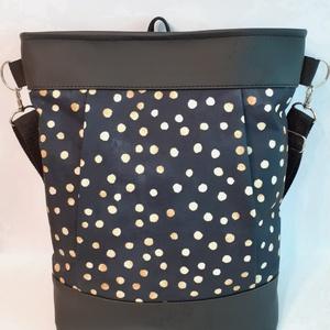 3 pántos táska/hátizsák (elől rejtett zsebbel), Táska & Tok, Variálható táska, Hímzés, Varrás, Meska