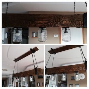 Gerenda lámpa , Lakberendezés, Otthon & lakás, Lámpa, Famegmunkálás, Kedves Látogató!\n\nTömör fa gerendából készült mennyezeti lámpa! 100 cm hosszú. Kérésre más színben é..., Meska