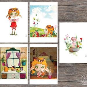 MESÉS illusztrációk, Képzőművészet, Otthon & lakás, Illusztráció, Lakberendezés, Falikép, Fotó, grafika, rajz, illusztráció, 5 darab digitális print mesefigurás illusztrációkkal\nideális gyerekszobába dekorációként\n- méret: 21..., Meska
