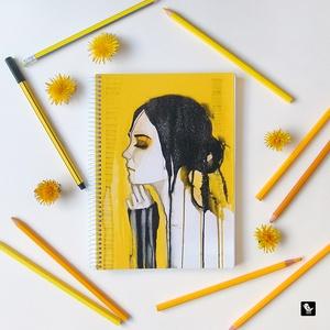 Akvarelles füzet, Képzőművészet, Otthon & lakás, Illusztráció, Naptár, képeslap, album, Jegyzetfüzet, napló, Fotó, grafika, rajz, illusztráció, Könyvkötés, Akvarell illusztrációs nyomdában készült füzet\n- mérete: A5 (14.8x21.0 cm)\n- 100 lapos\n- spirál füze..., Meska