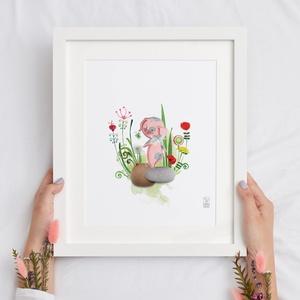MESÉS illusztrációk, Grafika & Illusztráció, Művészet, Fotó, grafika, rajz, illusztráció, A csomag tartalma 5 darab digitális print mesefigurás illusztrációkkal\nideális gyerekszobába dekorác..., Meska