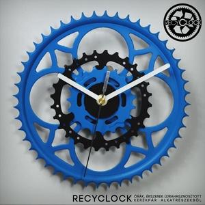 recyclock CWC-035 - falióra újrahasznosított kerékpár alkatrészből, Férfiaknak, Lakberendezés, Otthon & lakás, Falióra, óra, Bringás kiegészítők, Újrahasznosított alapanyagból készült termékek, Ötvös, Egyedi, kerékpár alkatrészekből készített falióra. \nA CHR sorozat órái elsősorban a kerékpárok lánct..., Meska