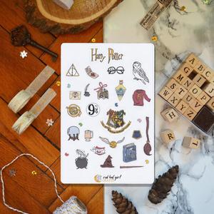 Harry Potter Matricák Roxfort Matricák Bullet Journal Matricák Határidőnapló Matricák, Dekoráció, Otthon & lakás, Naptár, képeslap, album, Jegyzetfüzet, napló, Naptár, Fotó, grafika, rajz, illusztráció, Ez a Harry Potter alapján készült matrica kollekció tökéletes minden tervező, bullet journal és hatá..., Meska