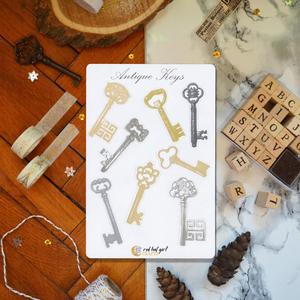 Antik Kulcs/ Antique Keys Matricák Bullet Journal Matricák  Határidőnapló Matricák, Naptár & Tervező, Papír írószer, Otthon & Lakás, Fotó, grafika, rajz, illusztráció, Ez az antik kulcsok ihlette matricakollekció tökéletes minden tervezőben, bullet journel-ben és hatá..., Meska