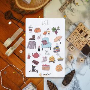 Őszi/ Fall Matricák Bullet Journal Matricák Határidőnapló Matricák, Jegyzetfüzet & Napló, Papír írószer, Otthon & Lakás, Fotó, grafika, rajz, illusztráció, Ez az ősz matricakollekció tökéletes minden tervezőben, bullet journel-ben és határidőnaplóban.\n\n☾ ↟..., Meska