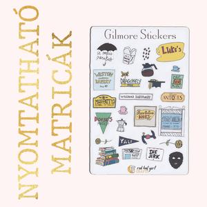 Nyomtatható Gilmore Girls Matricák Szívek Szállodája Matricák Bullet Journal Matricák Határidőnapló Matricák (2. verzió), Falmatrica & Tapéta, Dekoráció, Otthon & Lakás, Fotó, grafika, rajz, illusztráció, Ez a Szívek Szállodája inspirálta matrica kollekció tökéletes minden tervező, bullet journal és hatá..., Meska