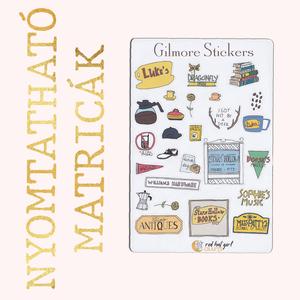 Nyomtatható Gilmore Girls Matricák Szívek Szállodája Matricák Bullet Journal Matricák Határidőnapló Matricák (1. verzió), Falmatrica & Tapéta, Dekoráció, Otthon & Lakás, Fotó, grafika, rajz, illusztráció, Ez a Szívek Szállodája inspirálta matrica kollekció tökéletes minden tervező, bullet journal és hatá..., Meska