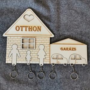 Fali kulcstartó, Otthon & lakás, Lakberendezés, Mindenmás, Falra akasztható kulcstartó figurákkal. Teljesen személyre szabható.\nA mérete 20x30 cm. , Meska