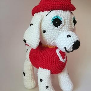 Horgolt kutyus , Játék, Gyerek & játék, Játékfigura, Plüssállat, rongyjáték, Baba játék, Horgolás, Varrás,  100%-os pamut fonálból és antiallergén tömőanyagból készült, igényesen kidolgozva, biztonsági szeme..., Meska