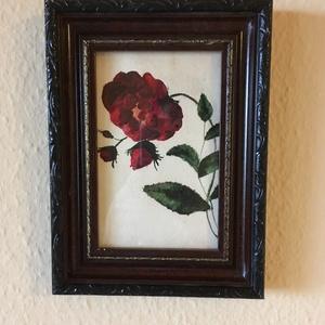Rózsa akvarell festmény, saját készítésű , NoWaste, Otthon & lakás, Dekoráció, Képzőművészet, Festmény, Akvarell, Festészet, Saját készítésű akvarell festmeny. \n\nKerete fa.\n\nAhogy többi festményem is, ez a kép is olyan keretb..., Meska