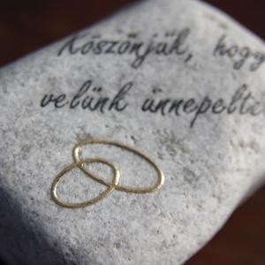 Köszönőajándék, felirattal és domború karikagyűrűkkel. :-)  - Meska.hu