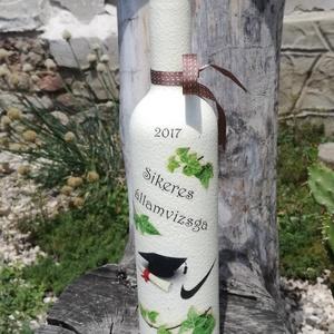 Transzferált italos üveg, egyedi felirattal. :-) (Regikislany) - Meska.hu