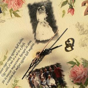 Falióra, esküvőre, házassági évfordulóra, egyedi fotóval, felirattal:-) (Regikislany) - Meska.hu
