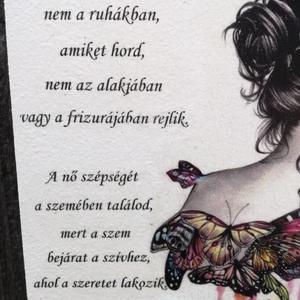Feliratos falikép fotótranszferrel. :-) - Meska.hu