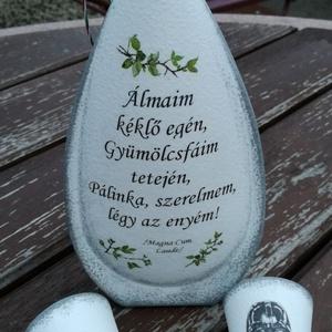 Transzferált italos szett, egyedi fotóval és idézettel. :-) - Meska.hu