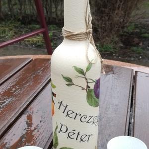 Transzferált italos szett, születésnapra. :-) - Meska.hu
