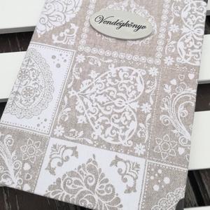Vendégkönyv - esküvőre, pasztell színben, egyedi felirattal vagy fotóval is.   :-), Esküvő, Vendégkönyv, Emlék & Ajándék, Decoupage, transzfer és szalvétatechnika, Festett tárgyak, Meska