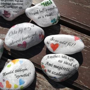 10 db-os, feliratos, egyedi, kövek, motivációs szöveggel. :-) (Regikislany) - Meska.hu