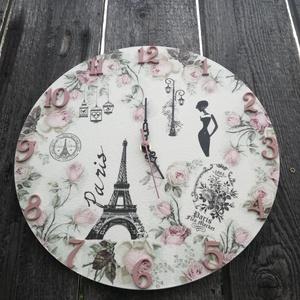 Vintage falióra. Párizs-Eiffel torony-romantika. :-) (Regikislany) - Meska.hu