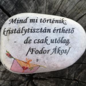 Kavics, rövid üzenettel. :-)  (Regikislany) - Meska.hu