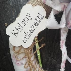 Kislány! Pillangós-pöttyös kesztyűs ajtódísz. :-) - otthon & lakás - dekoráció - ajtódísz & kopogtató - Meska.hu