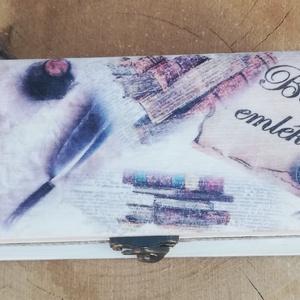 Tolltartó felirattal.   :-), Tolltartó & Ceruzatekercs, Papír írószer, Otthon & Lakás, Decoupage, transzfer és szalvétatechnika, Festett tárgyak, Fa tolltartó, mely ballagási ajándéknak tökéletes választás. Ha van  egy diák aki épp most ballag, l..., Meska