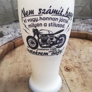 Sörös pohár motorosoknak, transzfer-technikával. :-) - Meska.hu