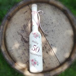 Italos üveg Hölgyeknek, 50. szülinapra. :-) - Meska.hu