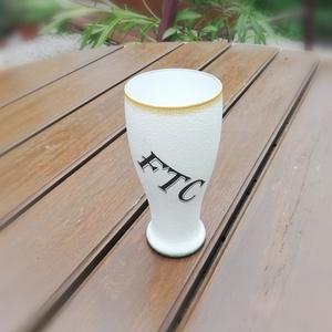 FTC-Fradis, fél literes sörös pohár, transzferálva. :-) - Meska.hu