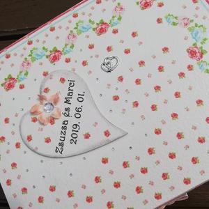 12 rekeszes ajándékátadó doboz esküvőre, transzfer-technikával. :-), Esküvő, Nászajándék, Decoupage, transzfer és szalvétatechnika, Festett tárgyak, 12 rekeszes doboz, melybe beletehetsz 12 pici ajándékot, hozzájuk illő jókívánságokkal az ifjú párna..., Meska