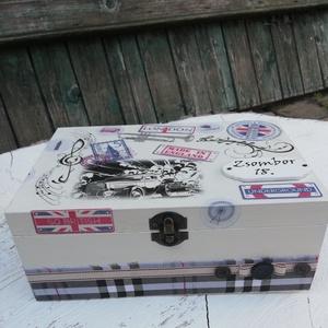 6 rekeszes ajándékátadó doboz, a belevalókkal, útravalónak /transzfer-technikával/. :-), Gyereknap, Ünnepi dekoráció, Dekoráció, Otthon & lakás, Decoupage, transzfer és szalvétatechnika, Festett tárgyak, 6 rekeszes doboz, melybe beleteszek 6 pici ajándékot, hozzájuk illő jókívánságokkal. :-) \nA fa doboz..., Meska