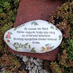 Feliratos kő, nyugdíjba vonulásra. :-) - Meska.hu